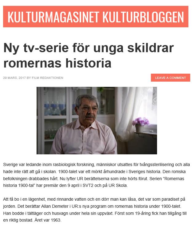 kulturmagasinet blog romerna