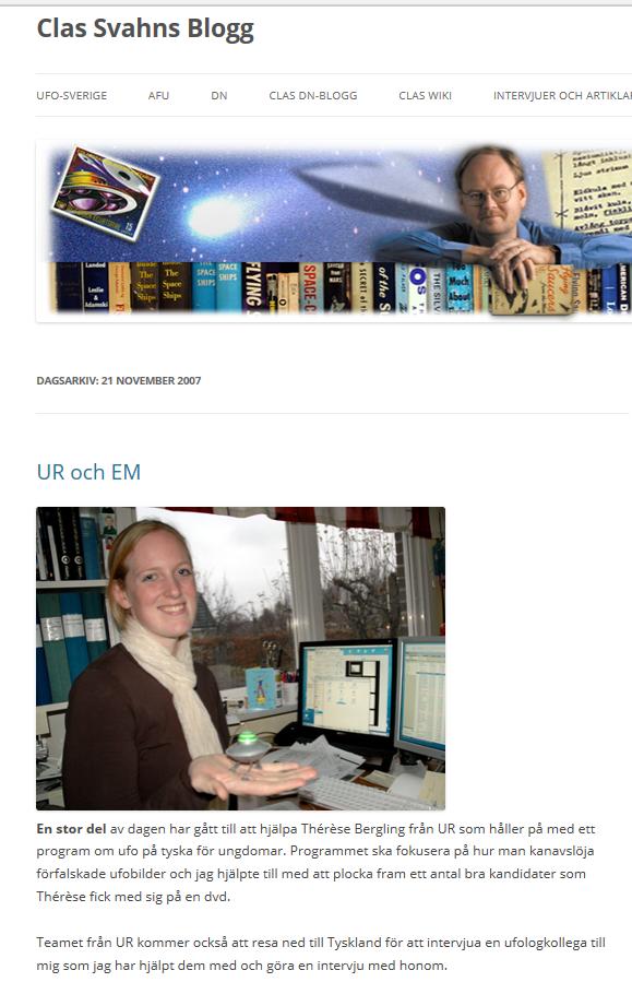 UFO blog m bild